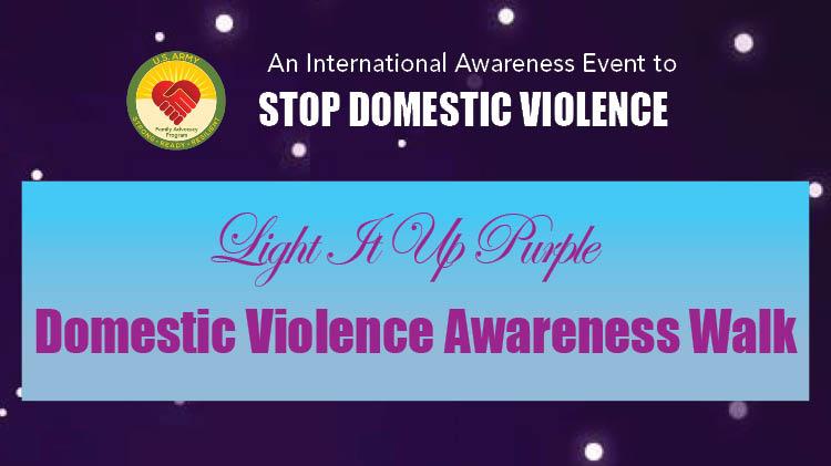 Light It Up Purple, Demostic Violence Awareness Walk
