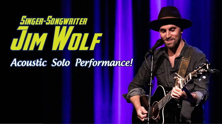 Singer-Songwriter Jim Wolf Acoustic Solo Performance