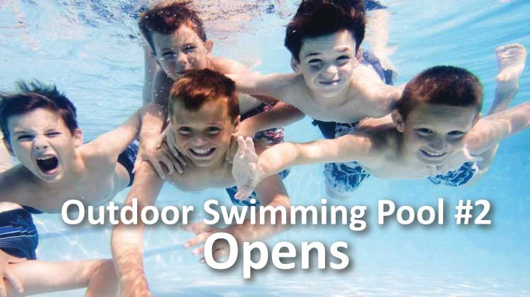 Outdoor Swimming Pool #2 Opens